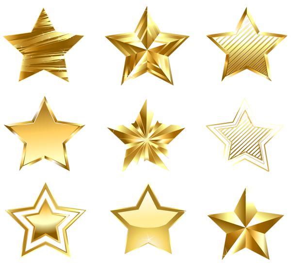 Gold star line clipart svg freeuse Transparent Golden Stars Set PNG | DECORATIVE ELEMENTS PNG AND JPG ... svg freeuse