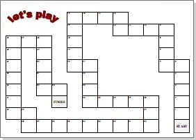 Blank board game clipart black and white 100 image freeuse library Customizable board game templates - great activity to just make one ... image freeuse library
