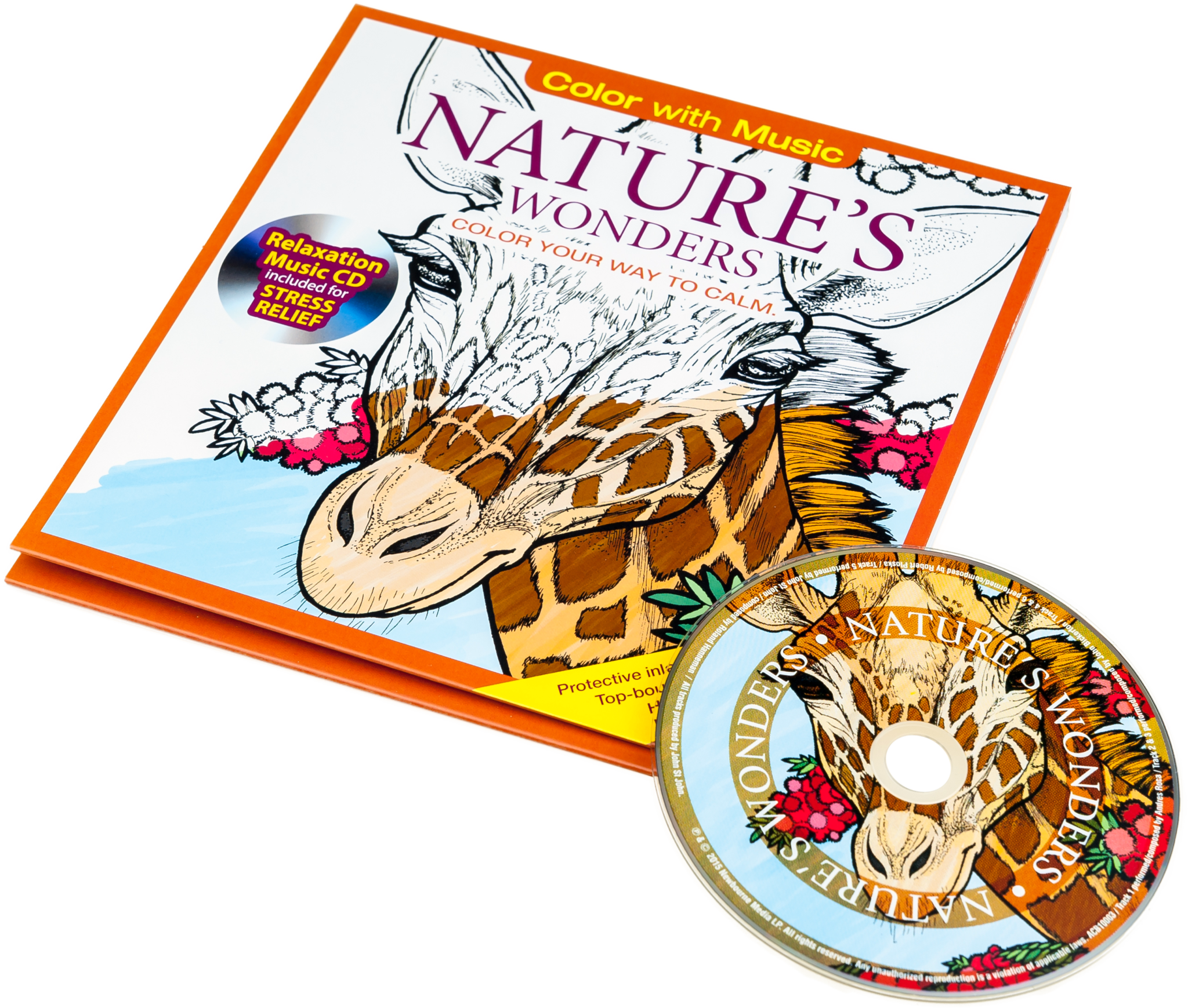 Nature's Wonders Adult Coloring Book With Relaxation CD - Color With ... picture freeuse