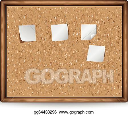Blank bulletin board clipart images jpg library library Vector Clipart - Cork board with blank notes. Vector Illustration ... jpg library library