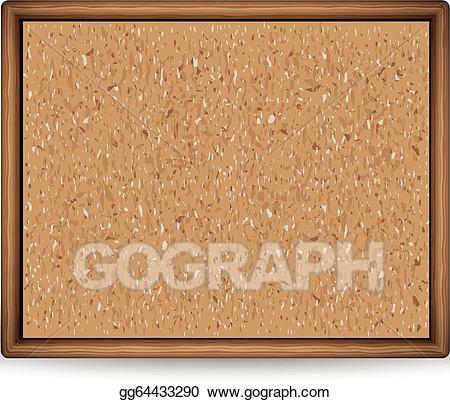 Blank bulletin board clipart images svg library library EPS Illustration - Blank cork board. Vector Clipart gg64433290 - GoGraph svg library library