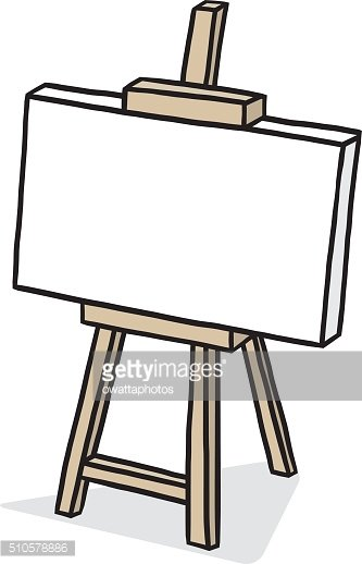 Canvas clipart image free download Wooden Easel With Blank Canvas premium clipart - ClipartLogo.com image free download
