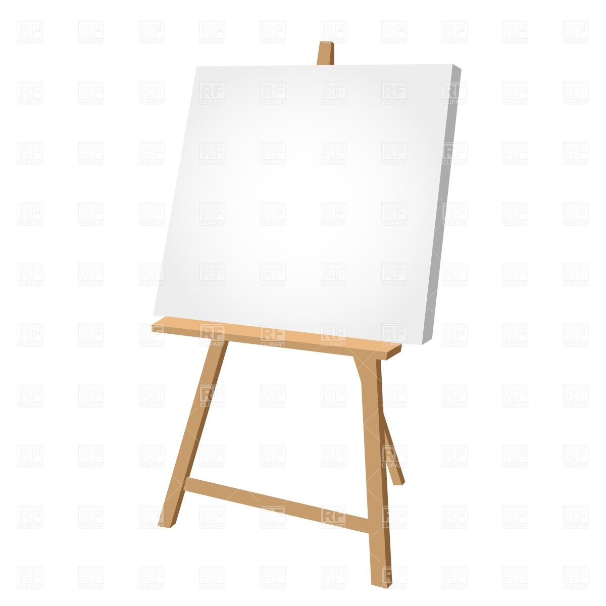 Free easel clipart clip royalty free Clipart Catalog Objects Blank Easel Download Free Vector Clipart ... clip royalty free