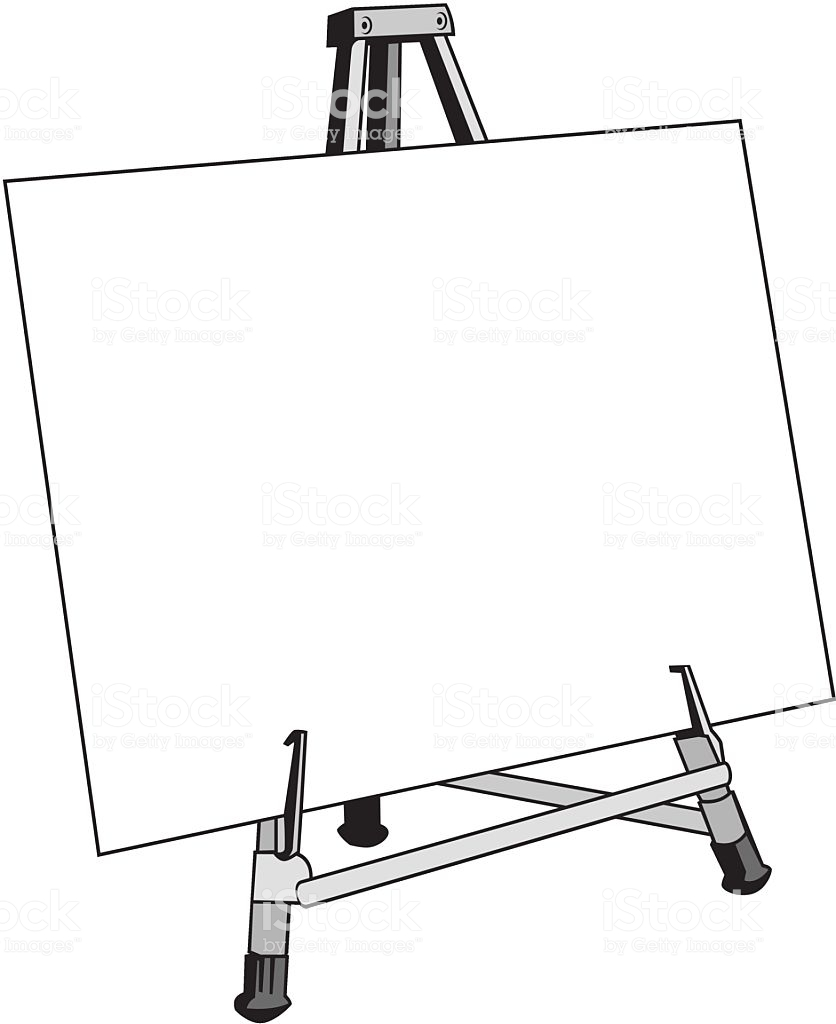 Blank canvas clipart svg freeuse A blank canvas or posterboard on an easel. » Clipart Station svg freeuse