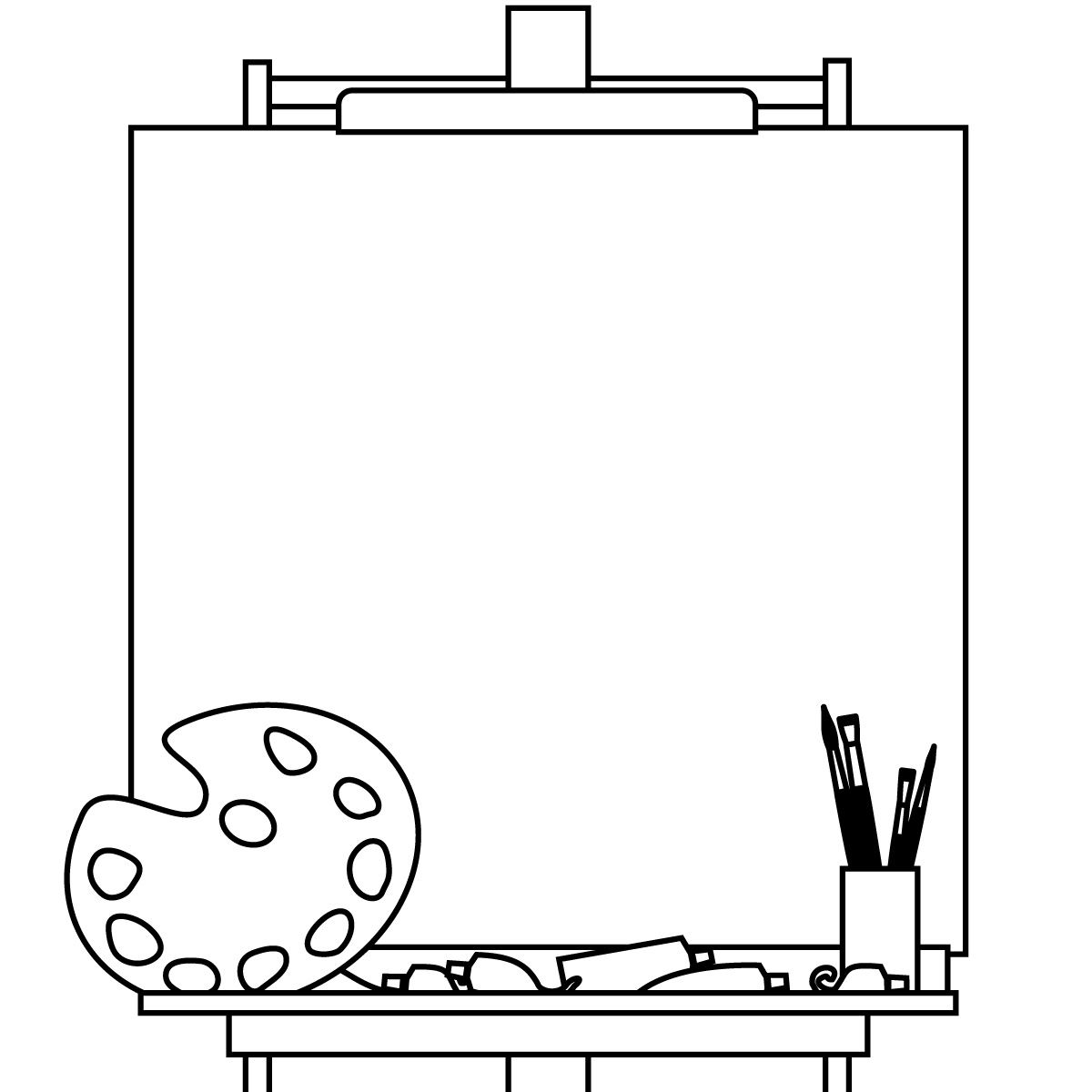 Blank canvas clipart graphic freeuse library Blank canvas clipart - Clip Art Library graphic freeuse library