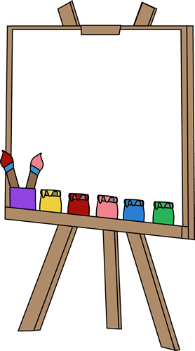 Canvas clipart svg freeuse download Blank Paint Easel Clip Art Image - an art easel with a blank canvas ... svg freeuse download