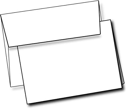 Box of cards black and white clipart clipart transparent download Heavyweight White Blank Cards With White Envelopes 5\