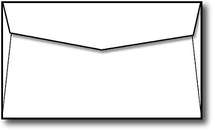 Blank card and envelope clipart black and white library Blank White Note Card Envelopes (5\