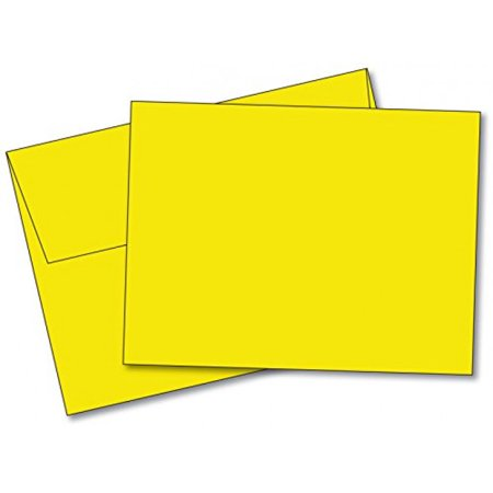 Blank card and envelope clipart png royalty free stock Blank Color Note Cards Uncoated, 4 1/2 X 6 Inches Cards - 40 Cards and  Envelopes - (These Are NOT Fold Over Cards) (Yellow) png royalty free stock