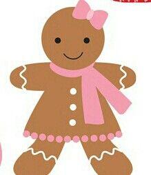 Blank christmas clipart gingerbread man clipart black and white download CHRISTMAS GINGERBREAD GIRL CLIP ART | CLIP ART - GINGERBREAD ... clipart black and white download