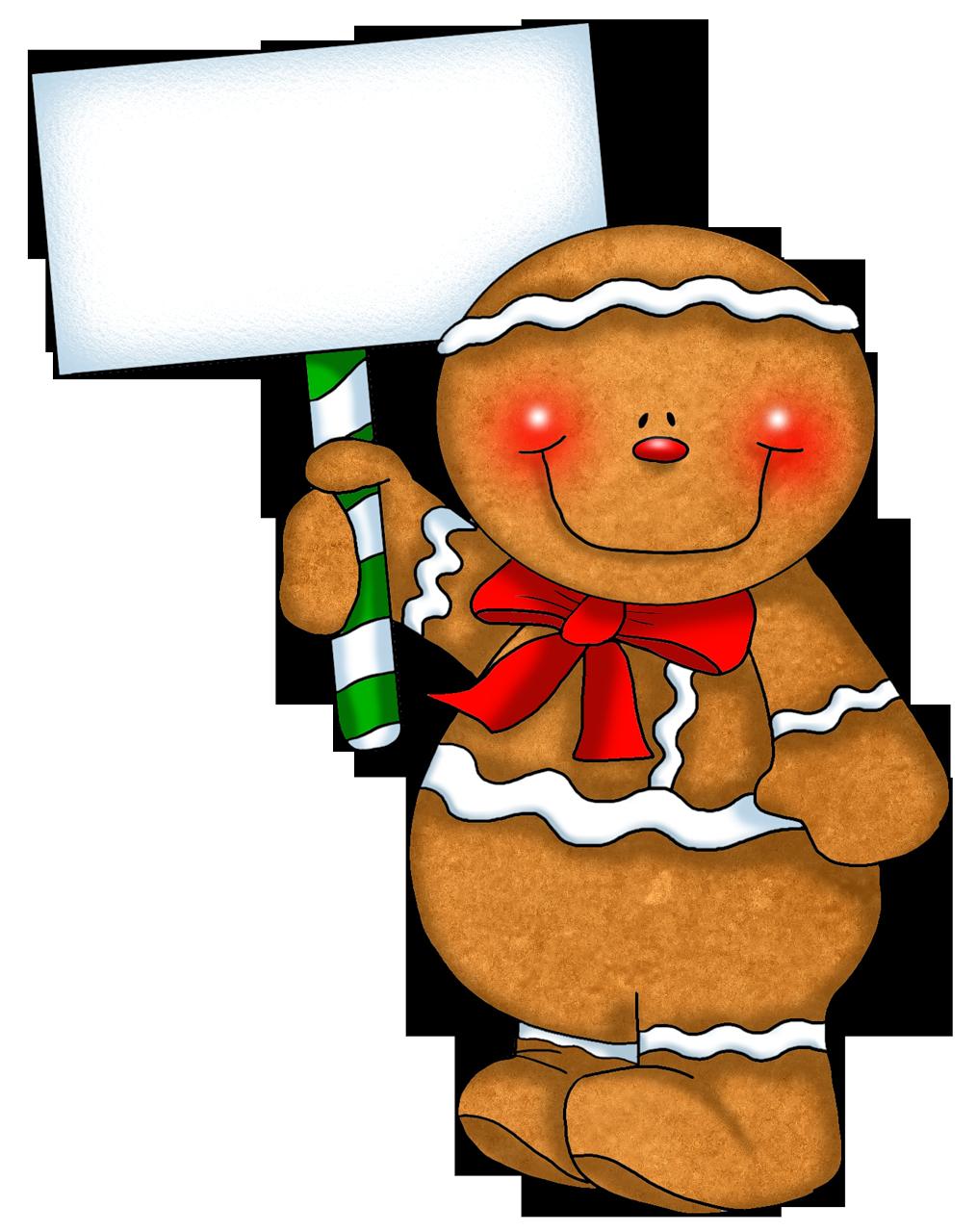 Blank christmas clipart gingerbread man clip GINGERBREAD MAN WITH BLANK SIGN | Christmas gingerbread printables ... clip