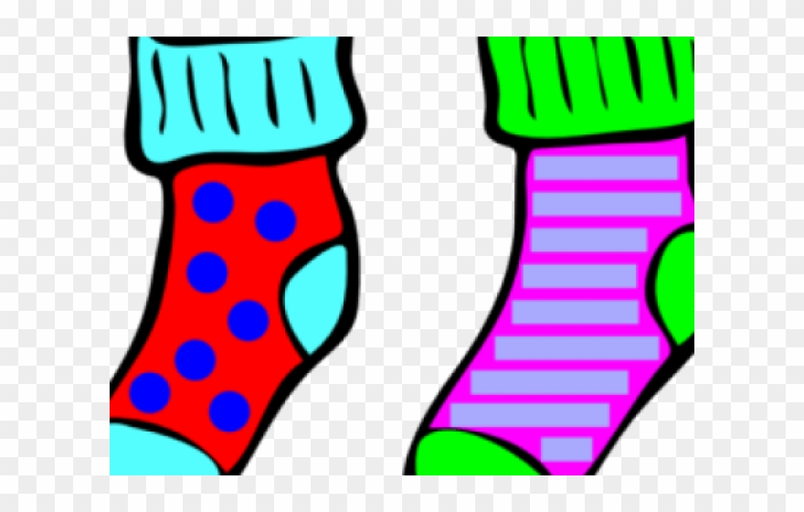 Blank christmas stocking clipart stripes image free download Socks Clipart Odd Socks - Pair Of Socks Cartoon - Png Download ... image free download