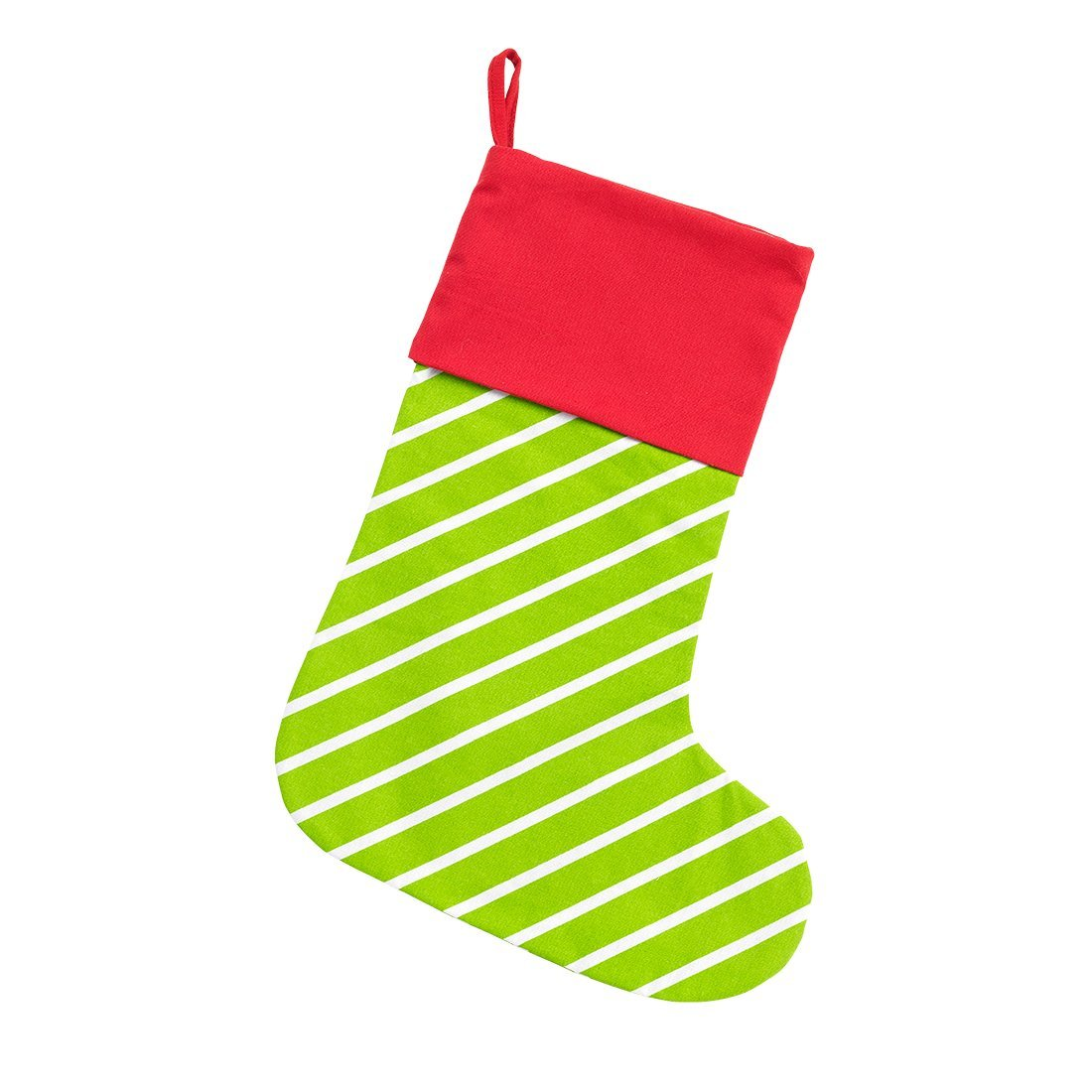 Blank christmas stocking clipart stripes jpg royalty free download Christmas Stocking in Red with White Polka Dots with Green Stripe Trim jpg royalty free download