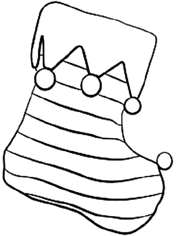 Blank christmas stocking clipart stripes free stock Detailed Stocking Coloring Pages Christmas Stockings Pdf – sidyak.in free stock