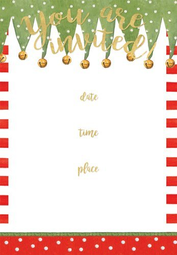 Blank christmas stocking clipart stripes transparent stock Amazon.com: Christmas Party Invitations Holiday Stocking Stripe ... transparent stock