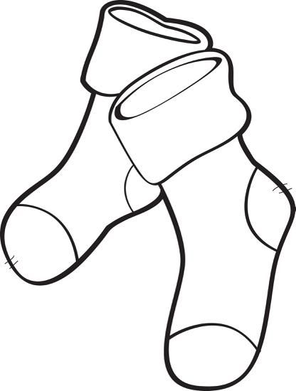 Blank christmas stocking clipart stripes graphic FREE Printable Christmas Stockings Coloring Page for Kids | Coloring ... graphic