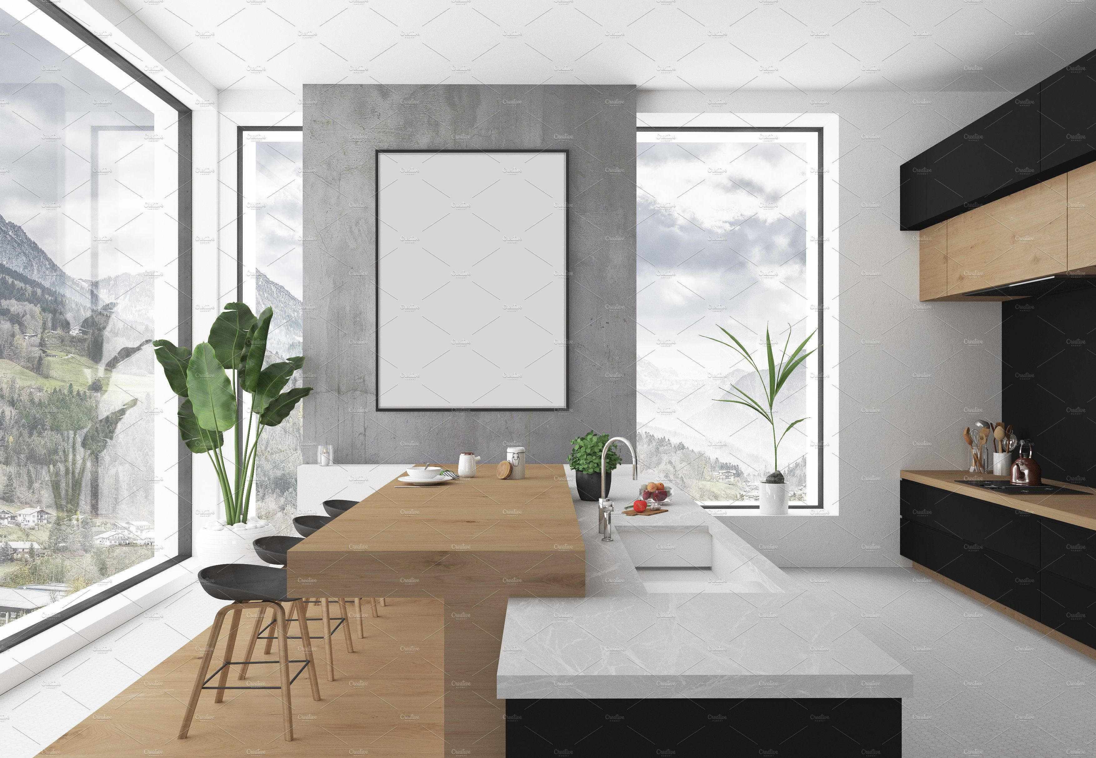 Blank clipart 1x1 vector freeuse library Kitchen mockup - blank wall mockup #PURCHASE#website#High#INCLUDES ... vector freeuse library