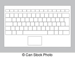 Blank computer keyboard clipart. Vector clip art royalty