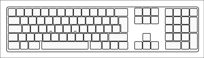 Blank computer keyboard clipart. April calendar fileblankextendedkeyboardsvg wikimedia