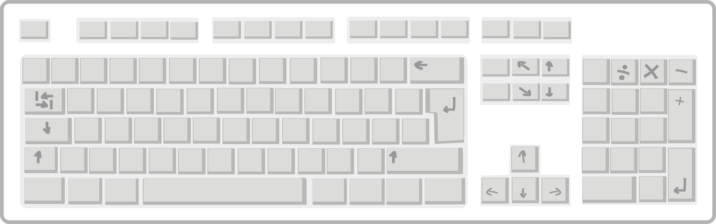 Blank computer keyboard clipart jpg free library Clipart - Blank White Keyboard jpg free library