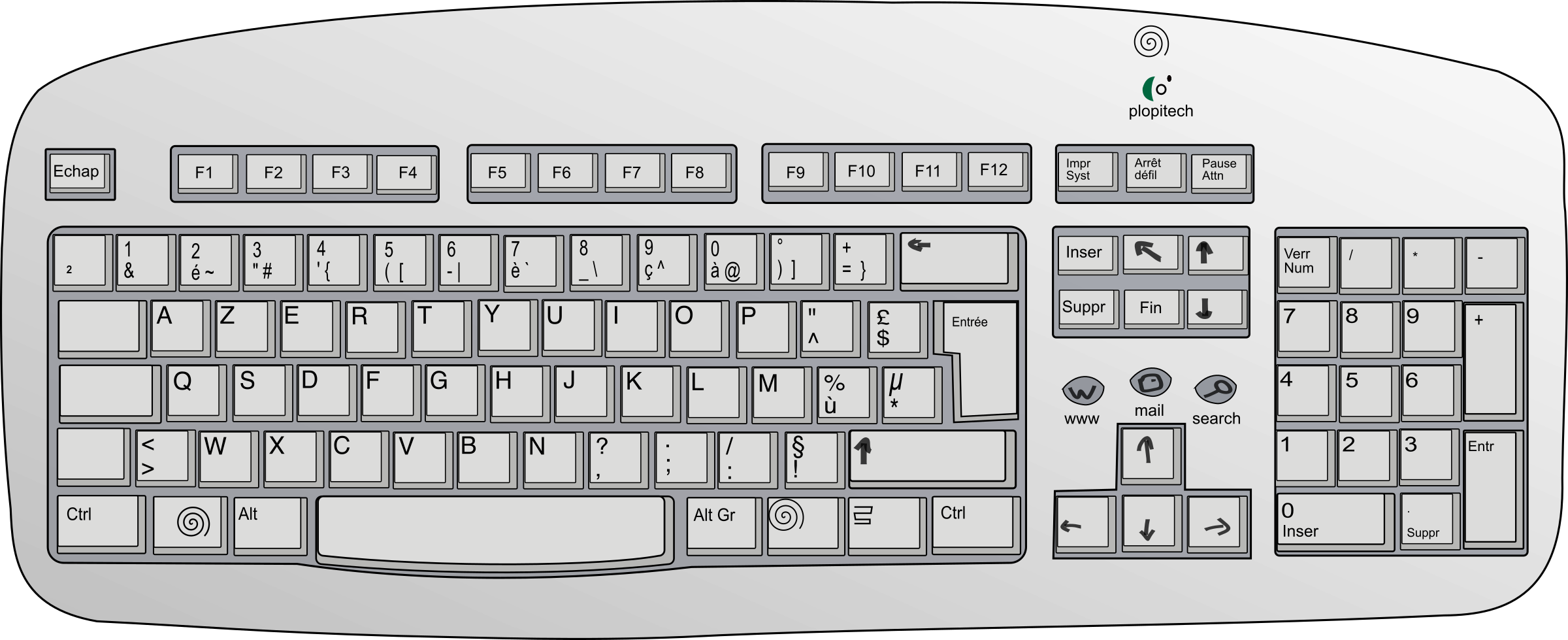 Clipart of computer keyboard banner royalty free Keyboard Clipart (7272) Free Clipart Images — Clipartwork banner royalty free