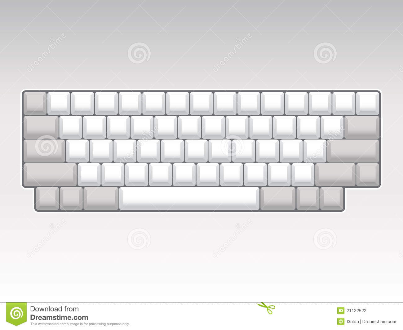 Keys stock illustrations layout. Blank computer keyboard clipart