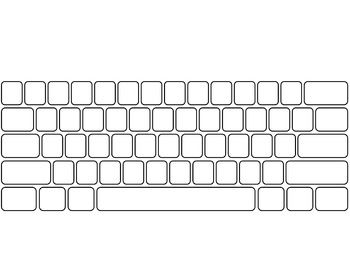 Blank computer keyboard clipart graphic freeuse library Blank keyboard key clipart - ClipartFest graphic freeuse library