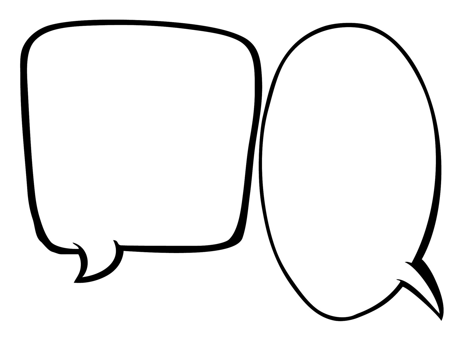 Blank conversation bubble clipart graphic black and white Free Speech Bubble Printable, Download Free Clip Art, Free Clip Art ... graphic black and white