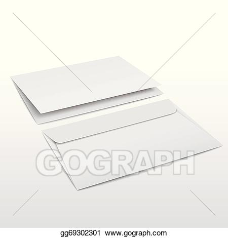 Blank envelope clipart clip freeuse EPS Illustration - Blank envelope and letter template. Vector ... clip freeuse