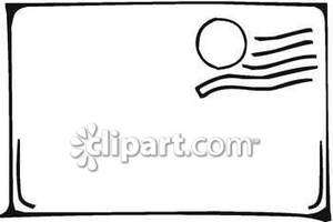 Blank envelope clipart svg freeuse library A Stamped Blank Envelope - Royalty Free Clipart Picture svg freeuse library
