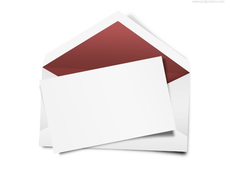 Blank envelope clipart picture free Free Envelope with blank note (PSD) Clipart and Vector Graphics ... picture free