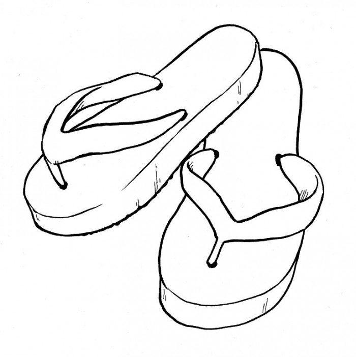 Blank flip flop clipart picture royalty free stock Flip Flops Drawing   Free download best Flip Flops Drawing on ... picture royalty free stock