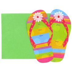 Blank flip flop clipart clipart royalty free Fill-In Flip Flop Invitations   Clipart Panda - Free Clipart Images clipart royalty free
