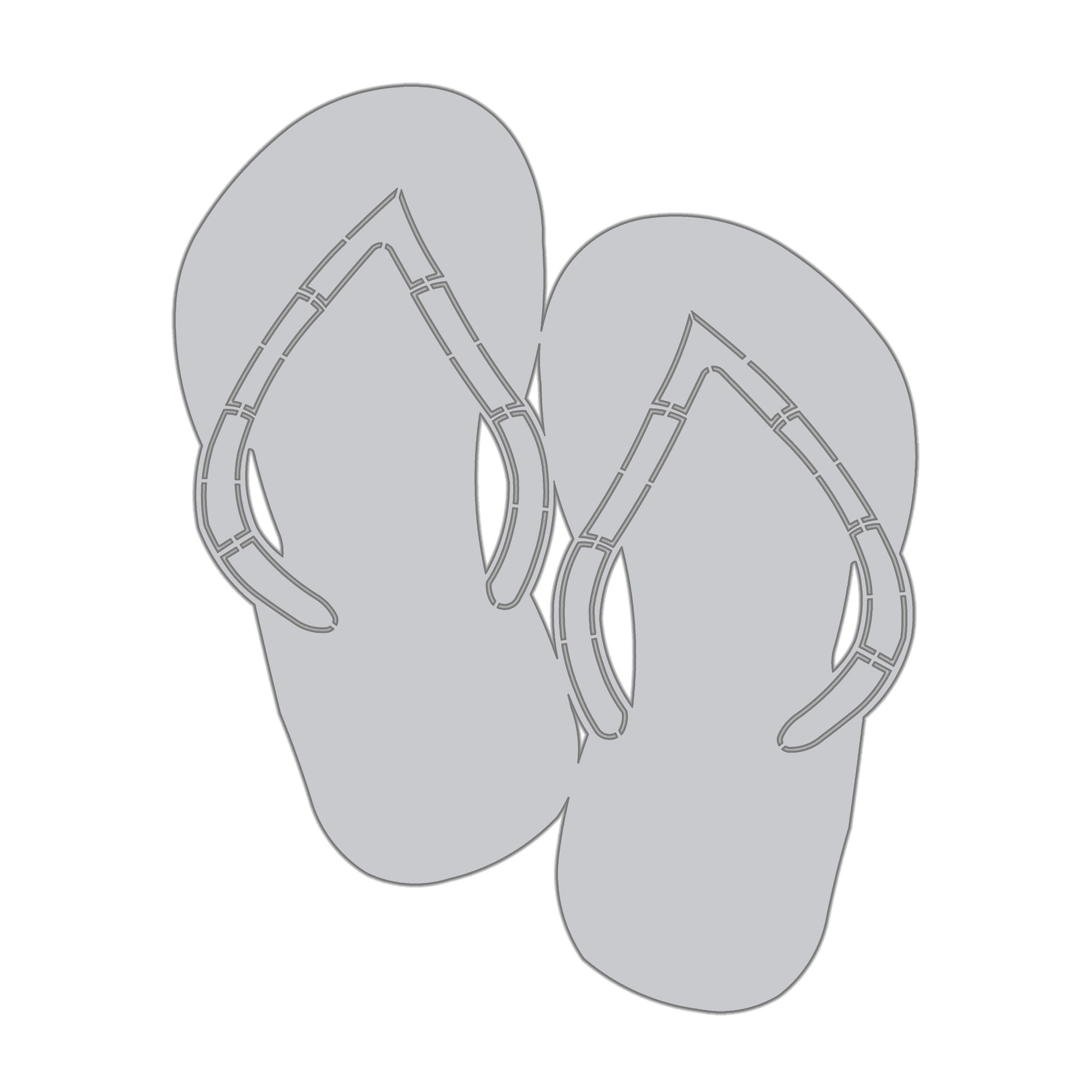 Blank flip flop clipart vector freeuse download Wall Art Flip Flop Blank vector freeuse download