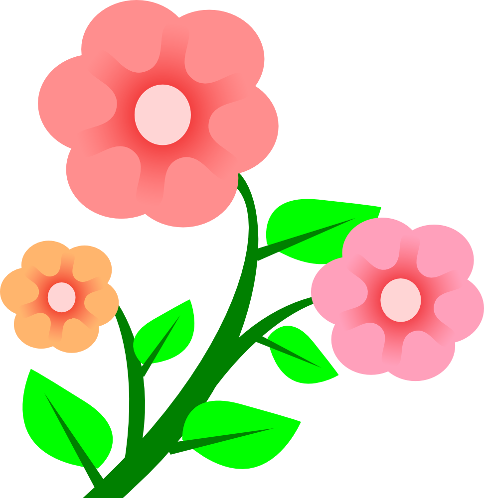 Blooming flower clipart clip art free stock OnlineLabels Clip Art - 3 Flowers clip art free stock