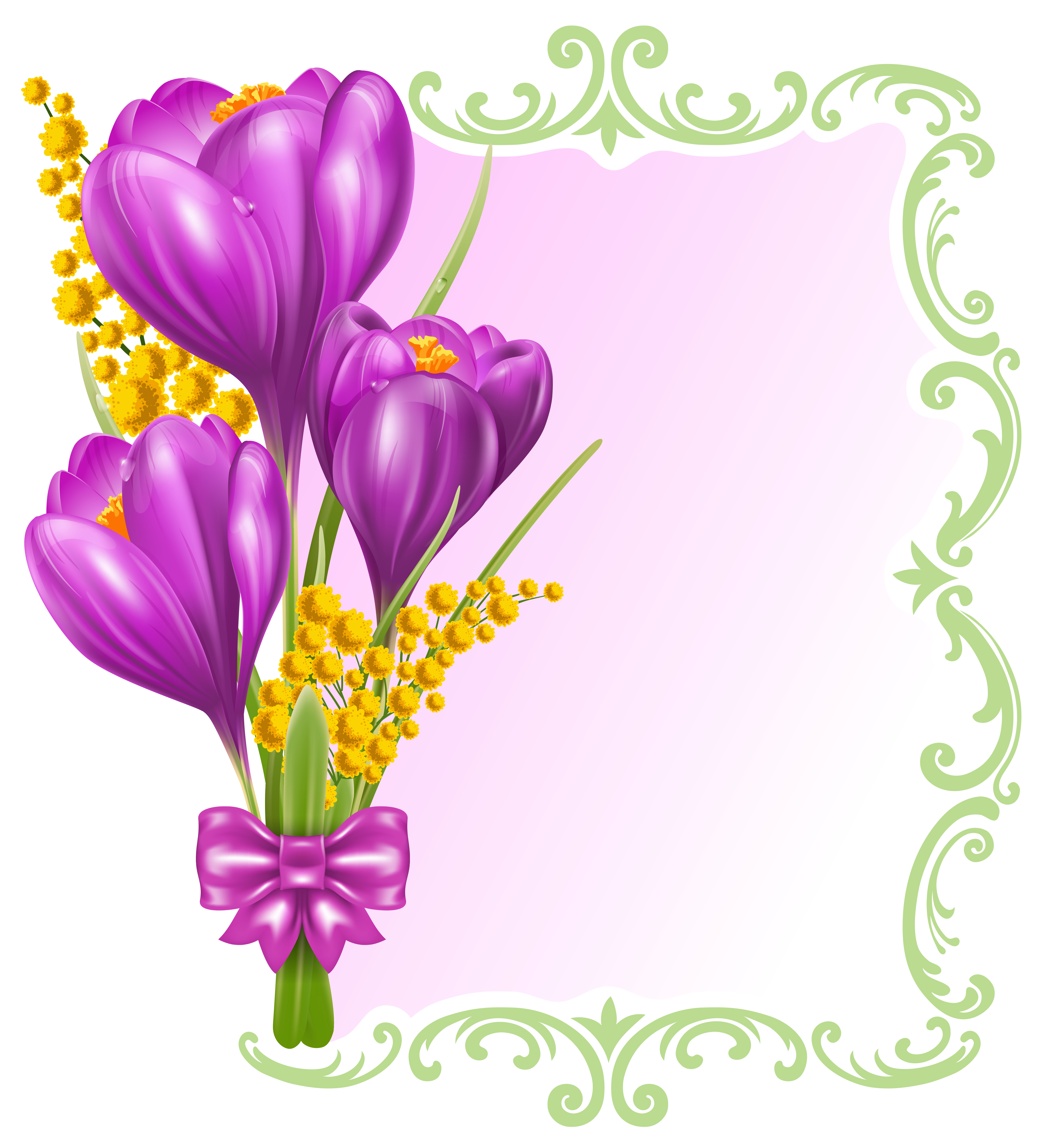 Blank flower clipart clip art free library Spring Decorative Blank PNG Clipart | Gallery Yopriceville - High ... clip art free library
