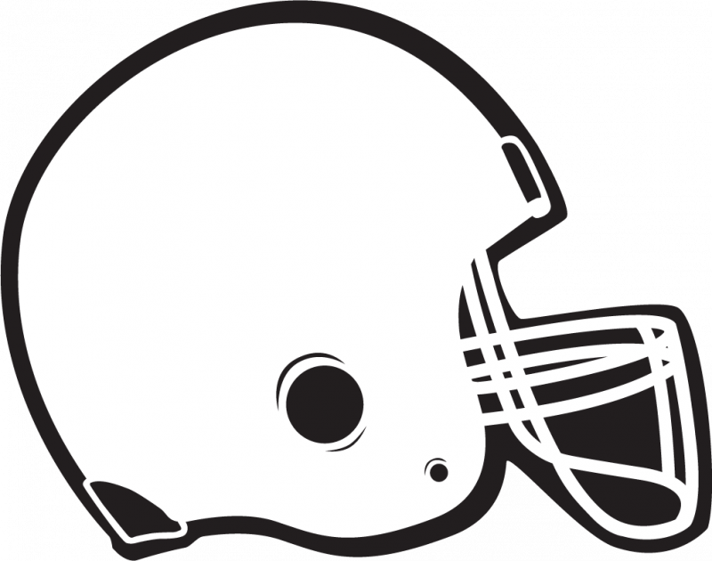 Football and helmet clipart black and white png freeuse library Football Helmet Template - Costumepartyrun png freeuse library