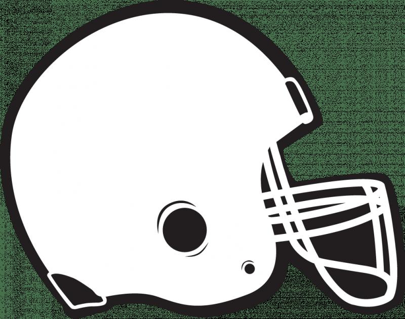 Football helmet outline clipart clip black and white library Football Helmet Template - Costumepartyrun clip black and white library