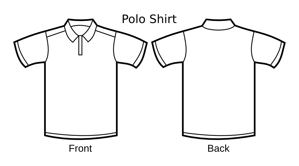 Blank football jersey clipart download OnlineLabels Clip Art - Polo Shirt Template download