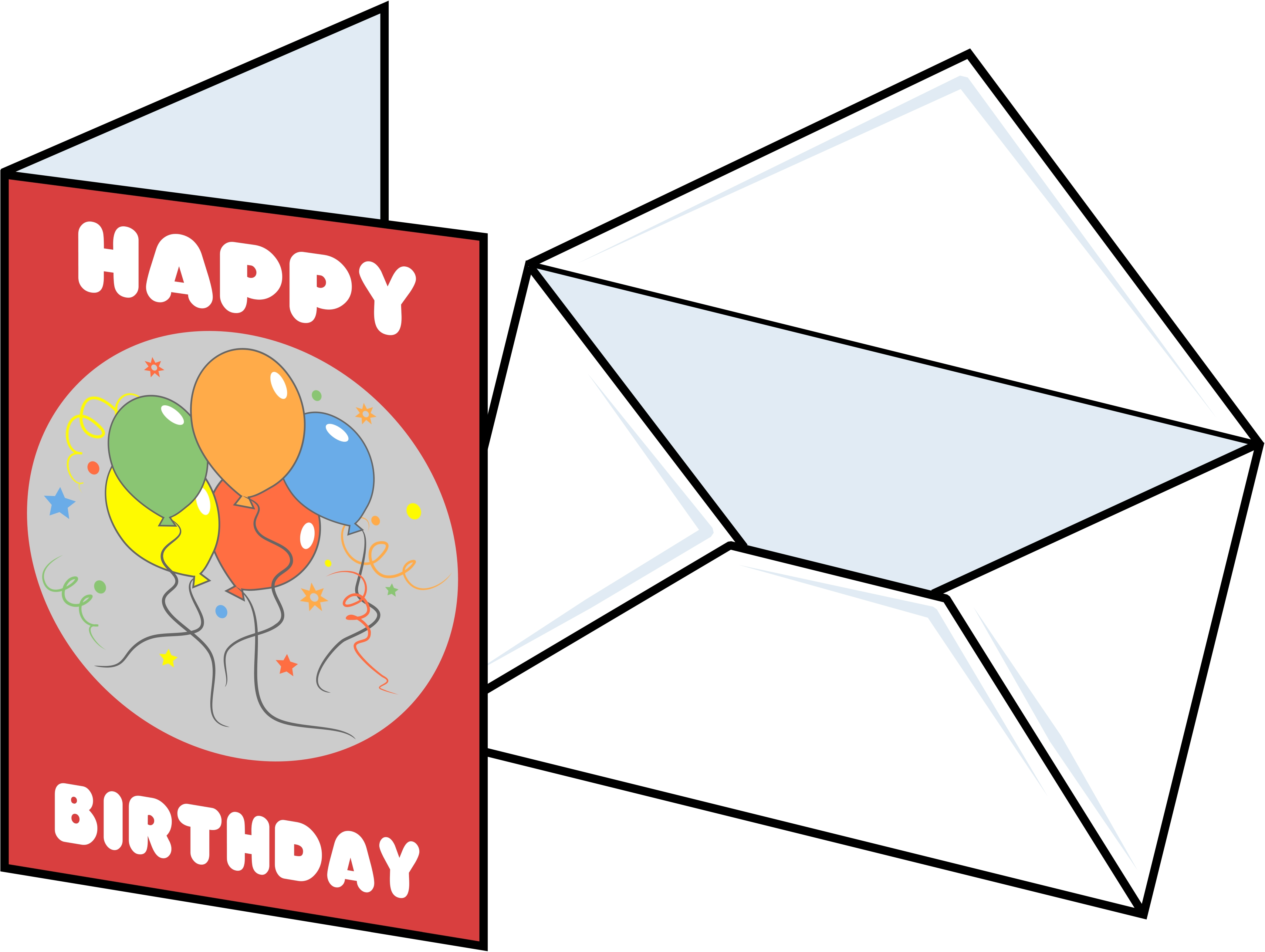 Happy birthday card clipart svg library library Clip Art Blank Cards Clipart - Clip Art Library svg library library