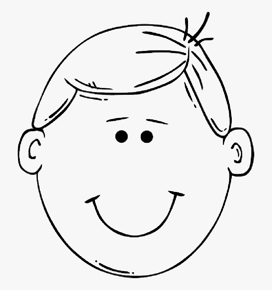 Blank head clipart clip freeuse library Blank Drawing Face - Boy Head Clipart Black And White, Cliparts ... clip freeuse library