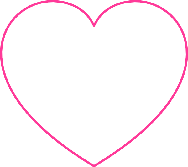 Pink heart clipart transparent background svg black and white download Pink Blank Heart Clip Art at Clker.com - vector clip art online ... svg black and white download