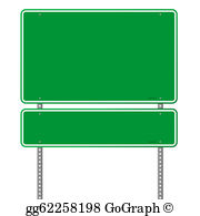 Interstate highway signs clipart