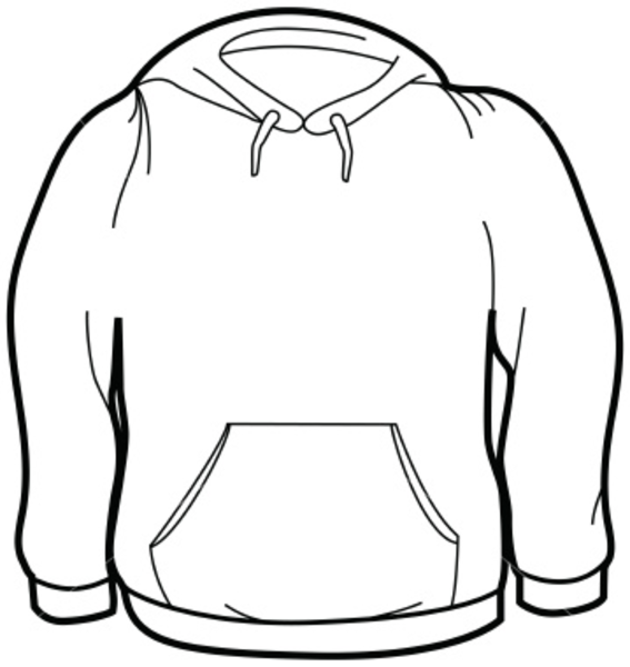 Sweatshirts clipart svg black and white Ist Adult Size Sweatshirt | Free Images at Clker.com - vector clip ... svg black and white