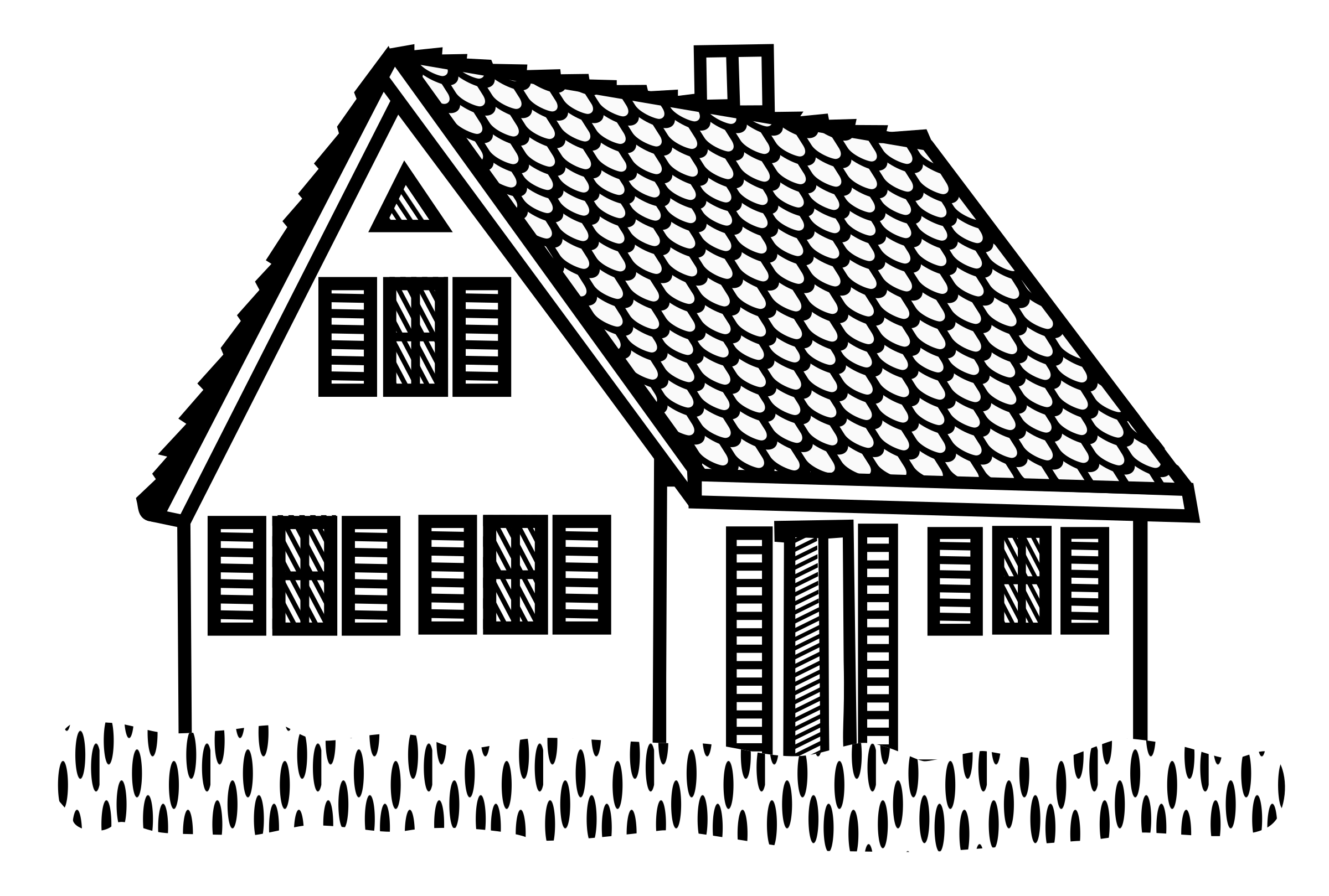 Dream house clipart jpg House Line Art Group (75+) jpg