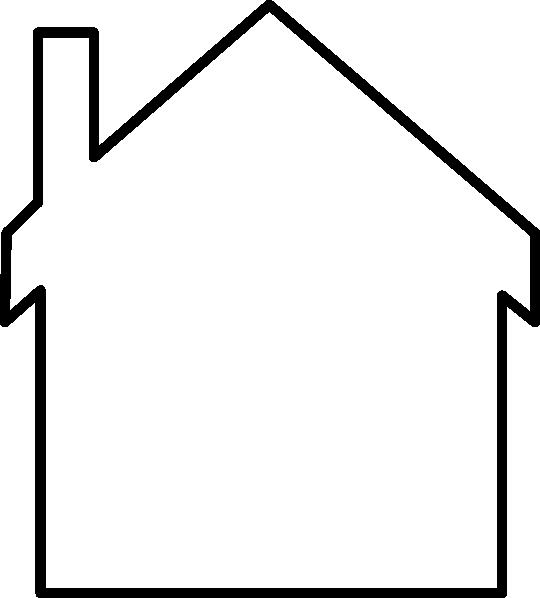 Blank House Logo Clip Art at Clker.com - vector clip art online ... jpg stock