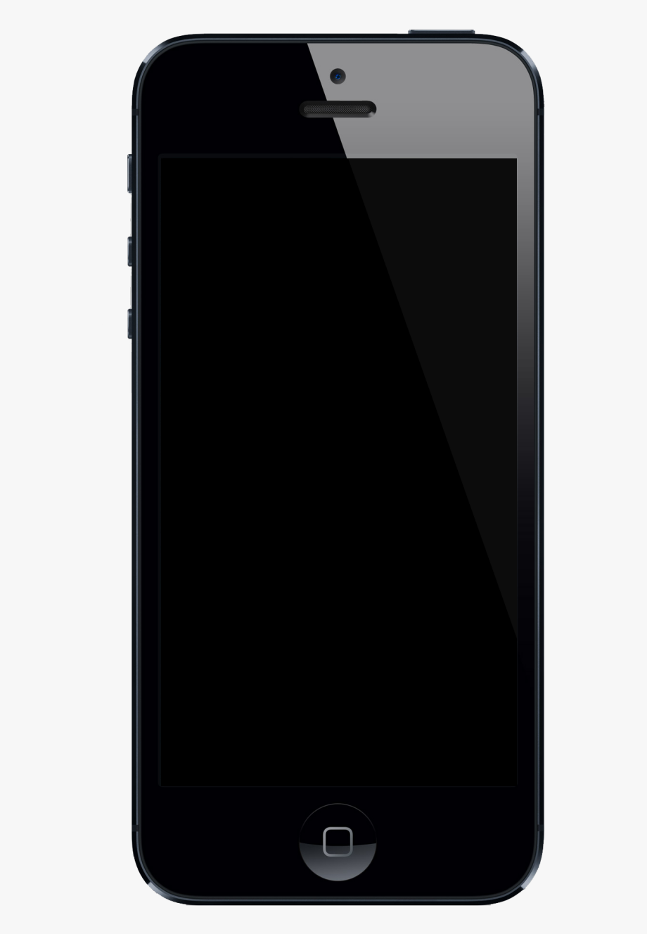 Blank iphone screen clipart image black and white Iphone 7 Clipart 7png - Black Iphone 7 Blank Screen #735681 - Free ... image black and white