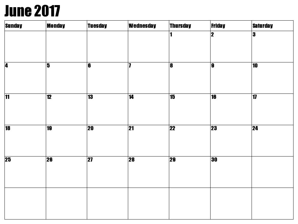 Blank june calendar clipart jpg transparent library June 2017 Calendar Clipart jpg transparent library