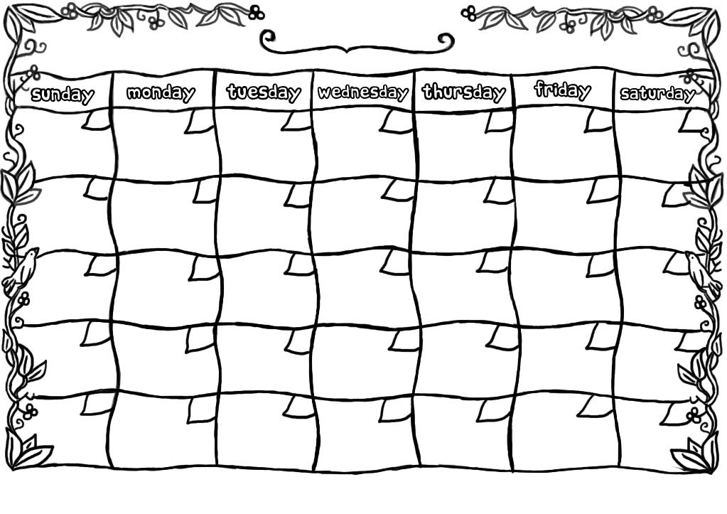 Blank june calendar clipart vector freeuse library Blank November Calendar Template vector freeuse library