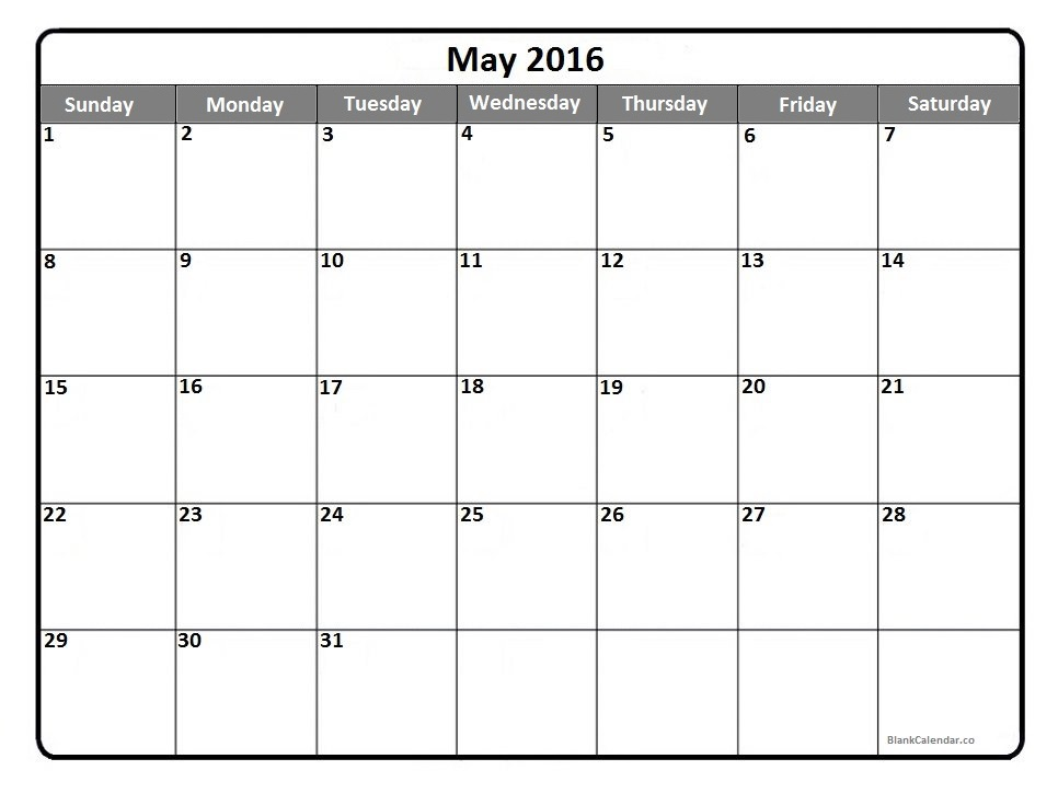 Blank june calendar clipart banner free stock 2016 Calendar Clipart banner free stock